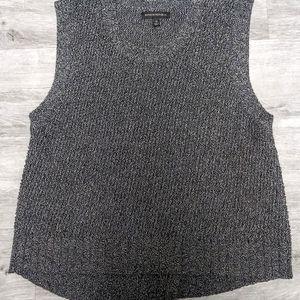 Banana Republic Gray Cross Back Sweater/Vest Sz M